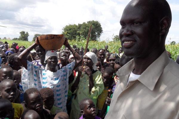 Bisschop Garang keerde op 19-jarige leeftijd met een roeping terug naar Greater Aweil